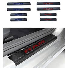 For Dodge RAM <b>Carbon</b> Fibre Vinyl Reflective Sticker <b>Car Door Sill</b> ...