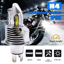 Night knight <b>1pcs</b> Fighter <b>H4</b> car LED Bulb 12V 24V <b>6500K</b> 6000LM ...