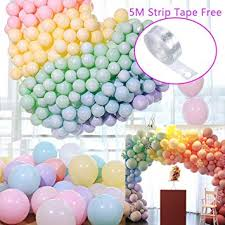 Coltum rainbow balloons arch garland assorted ballons pastel ...