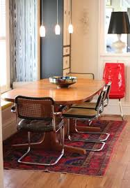 7ft dining table: cesca look a like dining chair with bench seating n vintage dining table exactly what i