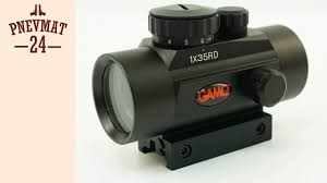 <b>Коллиматорный прицел Gamo</b> 1x35 RD на Weaver - YouTube