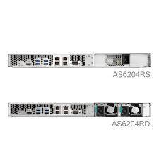 Buy the <b>Asustor</b> AS6204RS 4-Bay NAS, 1U Rackmount, Quad Core ...