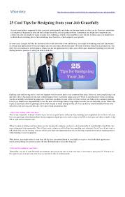 cool tips for resigning from your job gracefully wisestep
