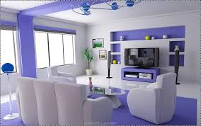Purple Living Room Design Nice Stylish Living Room With Soft Blue White Stylendesigns