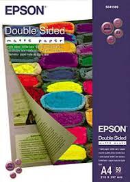 <b>Epson</b> SO41569, <b>Double</b>-<b>Sided Matte Paper</b>, A4, Pack of 50 ...