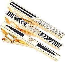 <b>AOLIWEN</b> 3pcs <b>Mens</b> Tie Clip Tie Tack Pins Tie Clips Gold Silver ...