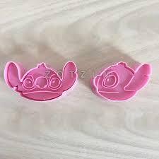 2 pcs/set Cute <b>Cartoon Lilo</b> Stitch Shapes Plastic <b>Cookie</b> Cutters ...