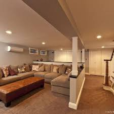 modern contemporary family basement remodel cool way to creat multiple spaces with half walls bedroomknockout carpet basement family