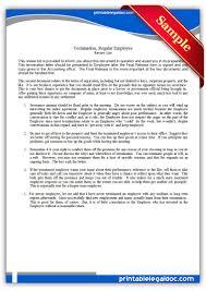 printable termination regular employee form generic printable termination regular employee form
