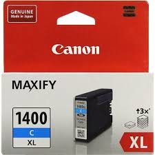 Оригинальный <b>картридж Canon PGI-1400XL</b> С (голубой ...