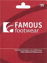 Famous Footwear Gift Card $25: Gift Cards - Amazon.com