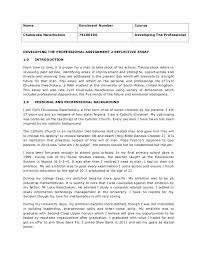 developing the professional reflective essay chukwuka nwachukwu name enrolment number course chukwuka nwachukwu developing the professional developing the professional essay examples