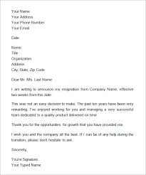 formal notice letter sample resume 2017 formal resignation letter example two weeks notice icover 17 best
