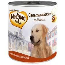"""<b>Консервы</b> для собак <b>Мнямс</b> """"<b>Сальтимбокка по Римски</b>"""" телятина с ..."""