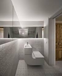 led bathroom lighting with modern white floral tiles bathroom lighting modern