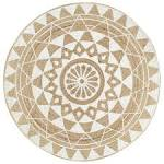 <b>Handmade Rug Jute</b> with <b>White</b> Print 90 cm Sale, Price & Reviews ...