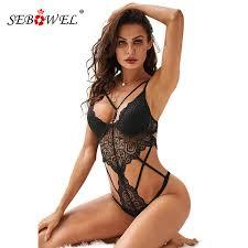 SEBOWEL легкое кружево тесьма Cupped <b>боди</b> для женщин ...