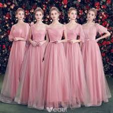 <b>Beauty Emily Long</b> Pink Bridesmaid Dresses 2018 A-Line ...