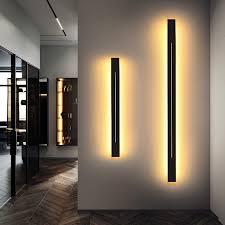 0.6 1.2m <b>Minimalism Modern LED</b> Wall lamp Black/Gold Living ...