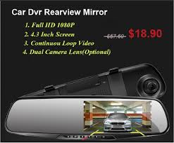 2019 Original <b>Car DVR</b> With Rearview Mirror Camera <b>Dash Cam 4.3</b> ...
