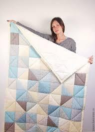 Купить <b>Одеяло</b> для мальчика и лоскутный мишка - голубой ...