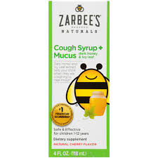 Zarbee's Naturals <b>Children's Cough Syrup</b>* + Mucus with <b>Dark</b> ...