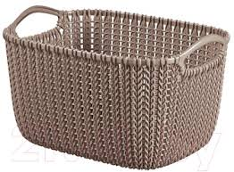 <b>Curver Knit S</b> 03674-X59-00 / 226167 (коричневый) <b>Корзина</b> для ...