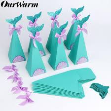 <b>OurWarm</b> 20pcs <b>Under the Sea</b> Party Candy Boxes Little Mermaid ...