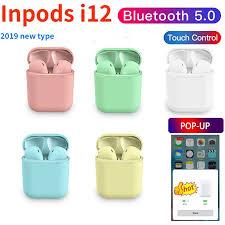 2019 <b>Inpods i12</b> Tws Pop up Bluetooth <b>Earphone</b> 5.0 <b>Wireless</b> ...
