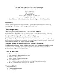 resume format for front office job equations solver cover letter dentist front desk jobs dental