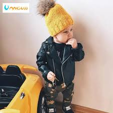 boys pu jacket spring autumn childrens motorcycle leather 1 7 years old fashion color diamond quilted zipper girls coat cool