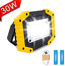Lambony LED Rechargeable <b>Work Light</b>, 30W Floodlight Battery ...