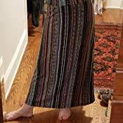 EXCHIC Women's <b>Bohemian Style Print</b> Long Maxi Skirt at Amazon ...