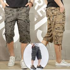 Men's Casual Camouflage <b>Multi Pocket Cargo Shorts</b> – B.O.H Apparel
