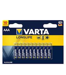 <b>Батарейка VARTA LONGLIFE</b> LR03 1.5V (AAA) (10 шт.) — купить ...