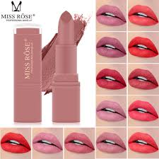 <b>MISS ROSE 12 Colors</b> Matte Lipstick <b>Set</b> Makeup Long Lasting ...