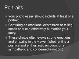 the photographic essay  portraits your photo essay