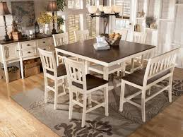 transitional breakfast room with bar height table white dining room furniture whitesburg counter height attractive high dining