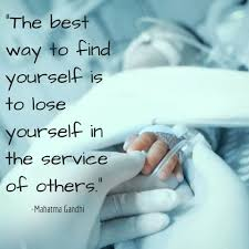 the best way to yourself is to lose yourself in the service the best way to yourself is to lose yourself in the service of others