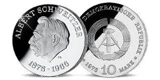 Bildergebnis für albert schweitzer münze