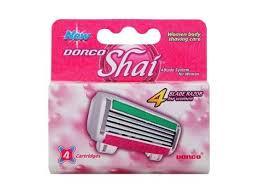 <b>4</b> Blade Razor System for Women Cartridges (<b>Dorco Shai</b>)(FRA2040 ...