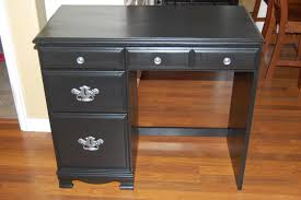 retro black painted pine wood small computer table having 5 storage drawers and double ogee edge astounding small black computer