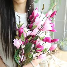 Nine head magnolia floor artificial flowers Artificial Fake Flowers ...
