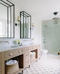 coastal bathroom designs: shiplap walls and cement tile l coastal bathrooms l wwwdreambuildersobxcom