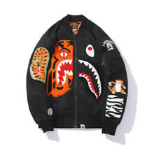 A <b>Bathing Ape BAPE Shark</b> Head <b>Printing</b> Coat Sweats Pullover ...