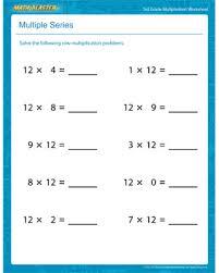 Multiple Series – Free Printable Multiplication Worksheet for 3rd ...Multiple Series - Printable Multiplication Worksheet for 3rd Graders