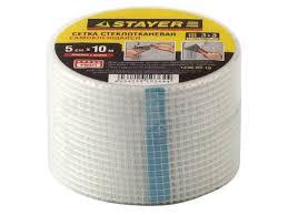 <b>Серпянка самоклеящаяся</b> fiber-tape 10 см х 45м <b>stayer</b> ...