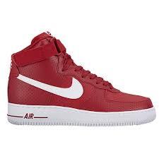 nike air force 1 high mens red white air force 1 nike