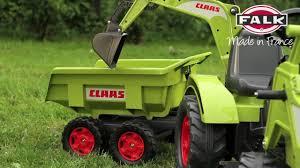 <b>Falk трактор экскаватор педальный</b> с прицепом и ковшом - купить ...