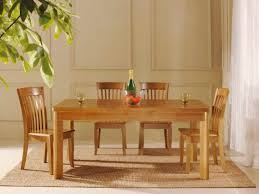 Hardwood Dining Room Table Rectangle Shape Golden Oak Dining Room Table Sets With 4 Chairs